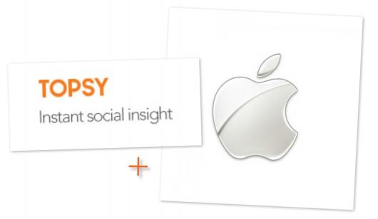 Слияние Apple и TopsyLabs