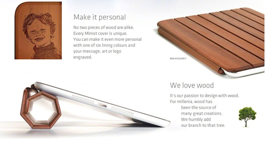 iWood Smart Cover for iPad mini