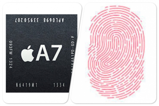 A7 chip + Touch ID