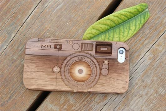 Фото-чехол для IPhone Wooden