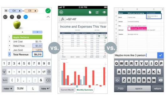 Apple iWork vs. Microsoft Office 365 vs. Google Docs