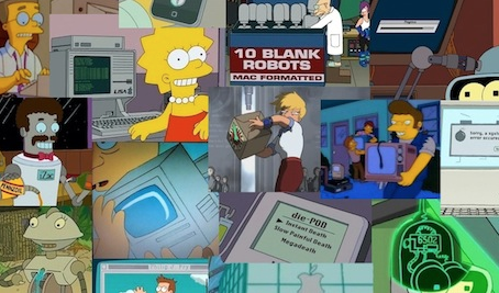 Apple in Simpsons and Futurama-1