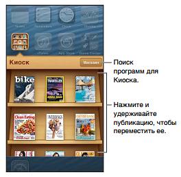 Интерфейс Киоск iPod touch