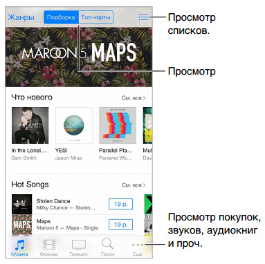 iTunes_Store_interface