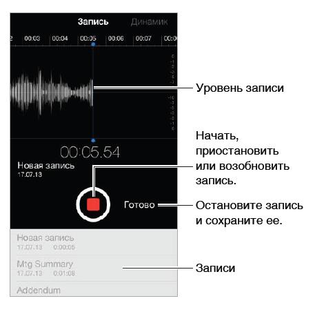 Как диктофон для айфона